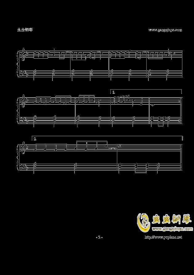 白龙马钢琴谱 第2页