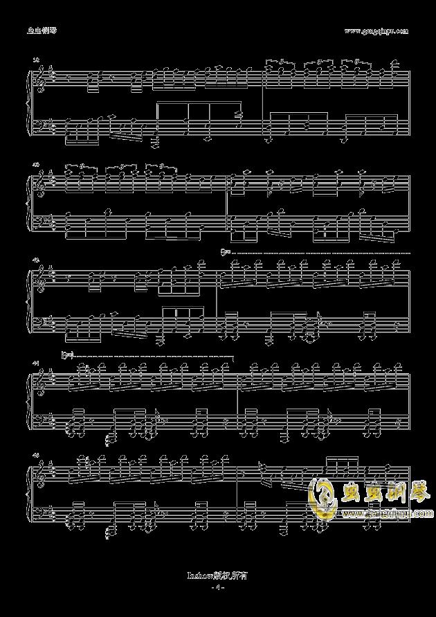 龙卷风钢琴谱 第4页