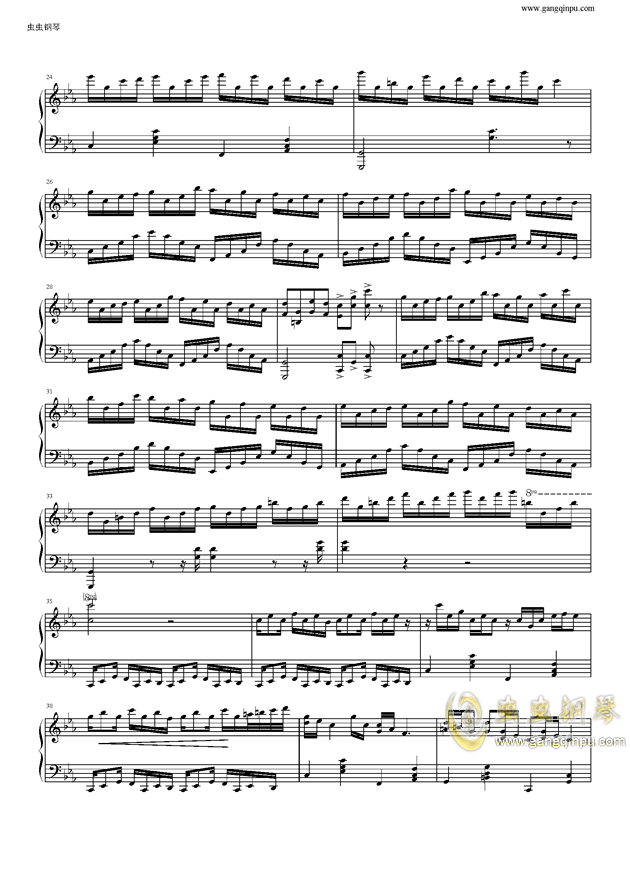 克罗地亚狂想曲钢琴谱 第2页