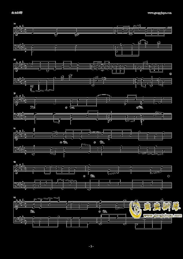 G大调的悲伤钢琴谱 第2页