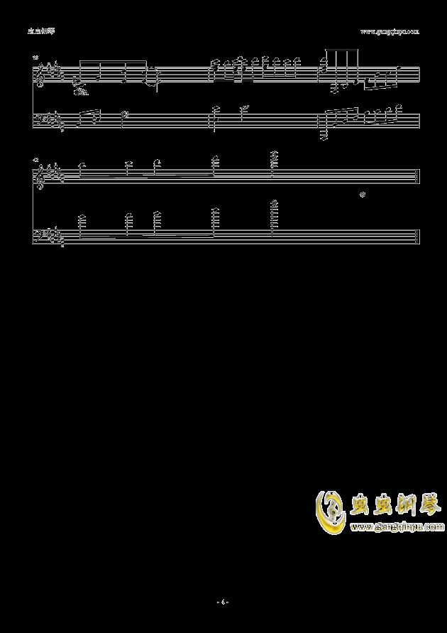 G大调的悲伤钢琴谱 第4页