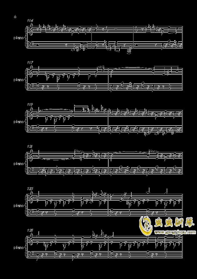 致爱丽丝钢琴谱 第6页