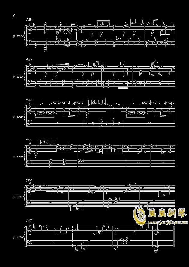 致爱丽丝钢琴谱 第8页