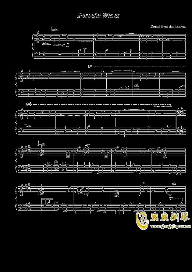 Peaceful Winds钢琴谱 第1页