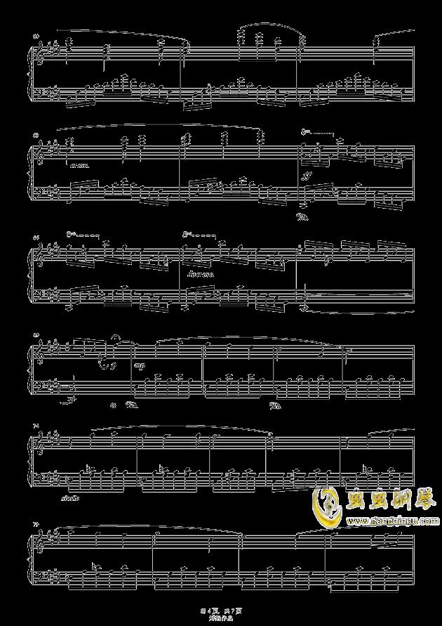 水之韵钢琴谱 第4页