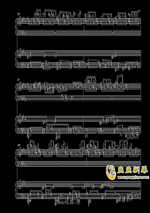 克罗地亚狂想曲钢琴谱 第11页