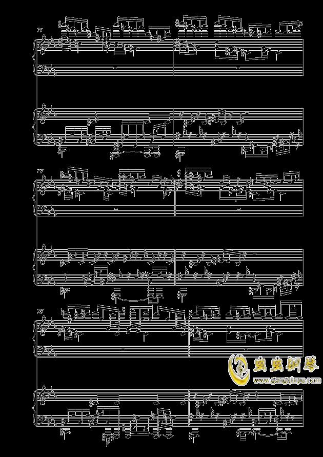 克罗地亚狂想曲钢琴谱 第13页
