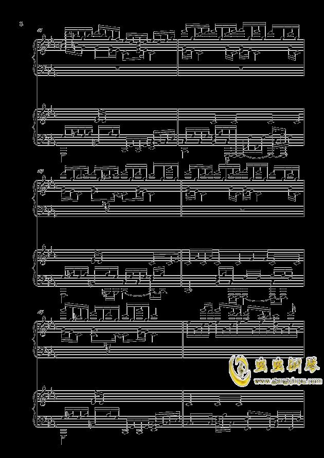 克罗地亚狂想曲钢琴谱 第8页
