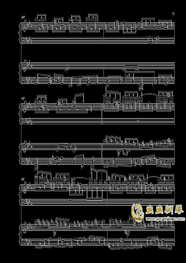 克罗地亚狂想曲钢琴谱 第9页