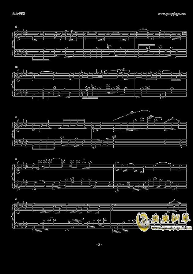 来不及说爱你钢琴谱 第2页