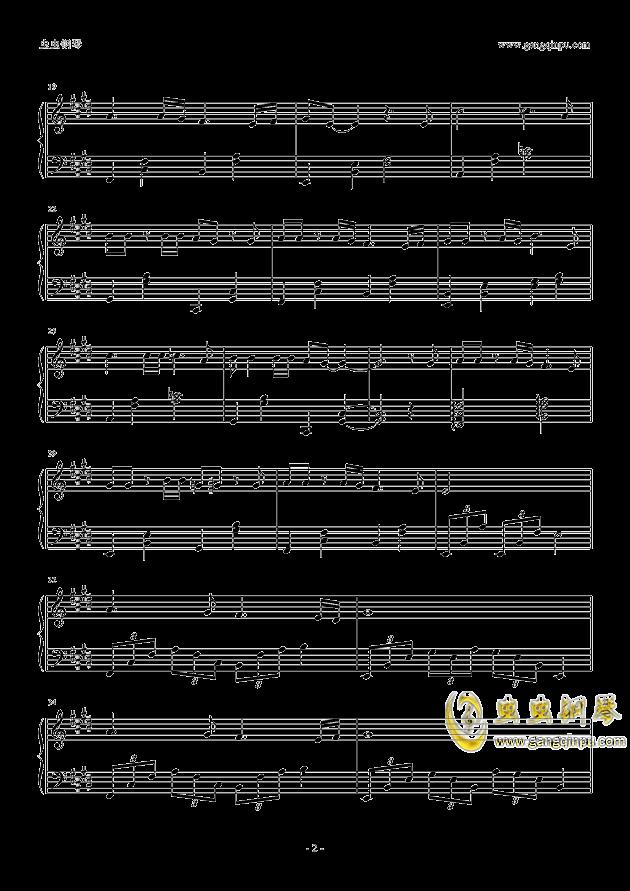枕边故事钢琴谱 第2页