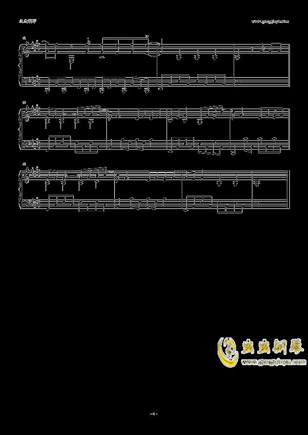 泡沫钢琴谱 第4页