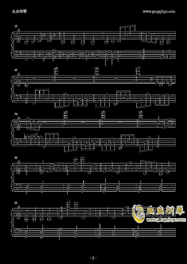 老男孩钢琴谱 第2页