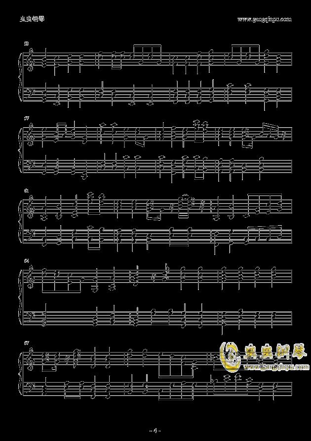 老男孩钢琴谱 第4页