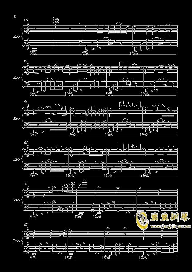 健忘钢琴谱 第2页