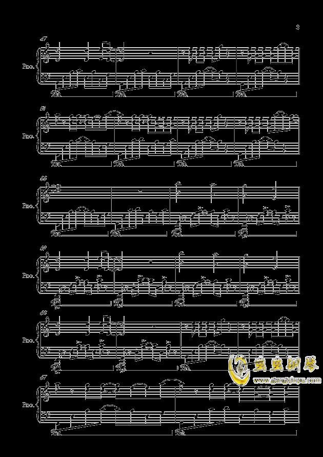 健忘钢琴谱 第3页