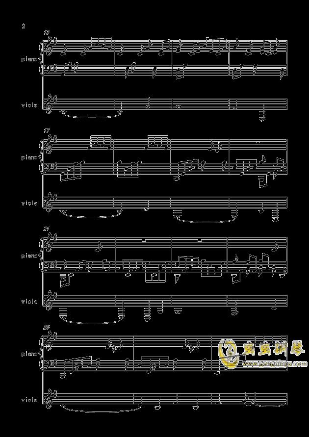 寒衣夜思量(原创)钢琴谱 第2页