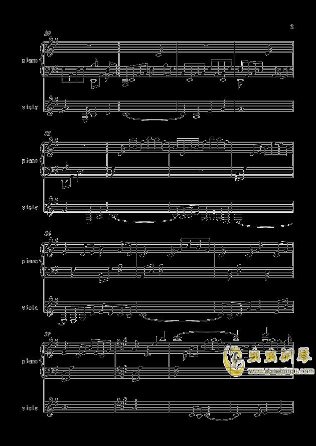 寒衣夜思量(原创)钢琴谱 第3页