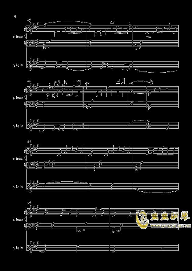 寒衣夜思量(原创)钢琴谱 第4页