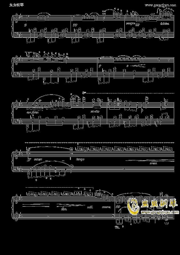 肖邦降E大调夜曲钢琴谱 第3页