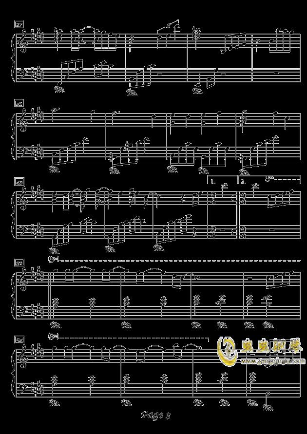 冬之韵钢琴谱 第3页
