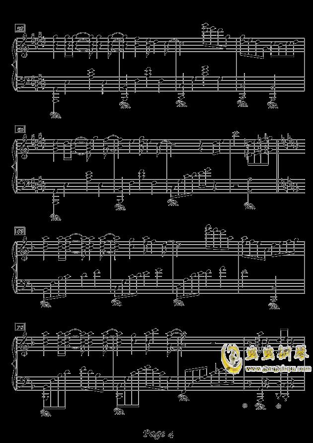 冬之韵钢琴谱 第4页