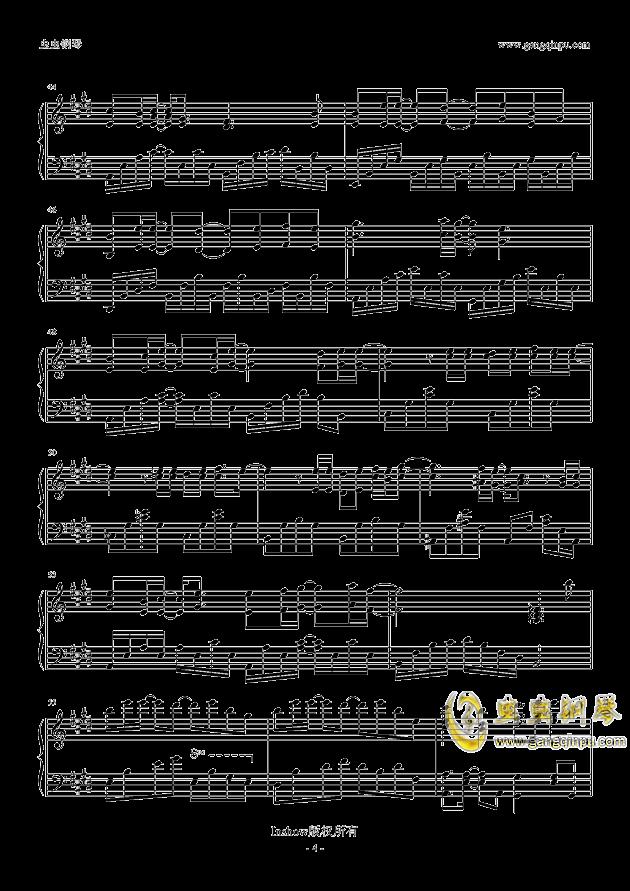 鹿晗勋章歌谱钢琴谱