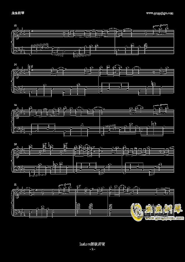 一吻之间钢琴谱 第2页