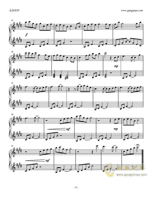 �流れ钢琴谱 第3页