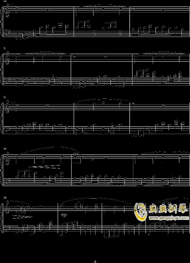 调色盘钢琴谱 第4页