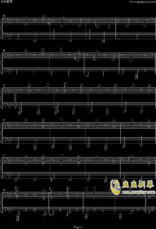 匈牙利舞曲第五号B调钢琴谱 第2页