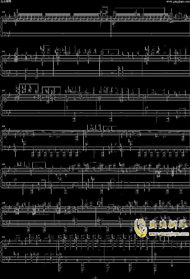 布鲁克纳第五交响曲第四乐章钢琴钢琴谱 第17页