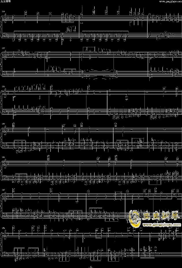 布鲁克纳第五交响曲第四乐章钢琴钢琴谱 第6页