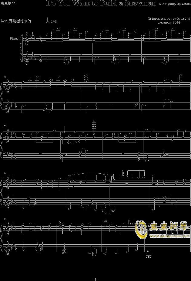 do you 钢琴简谱双手