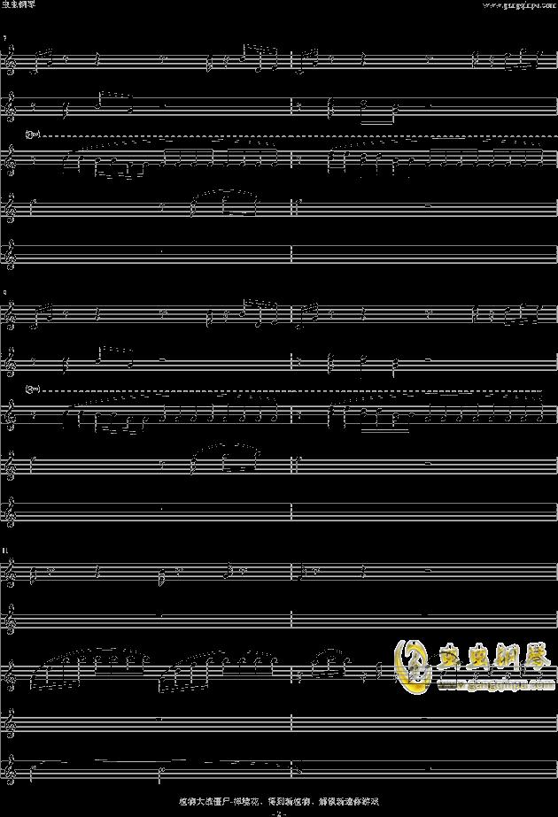 禅曲谱-植物大战僵尸 钢琴谱 禅境花园