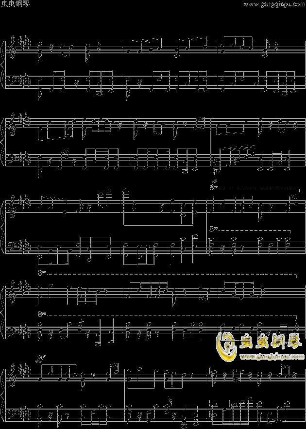 狮王之傲旅店钢琴谱 第3页