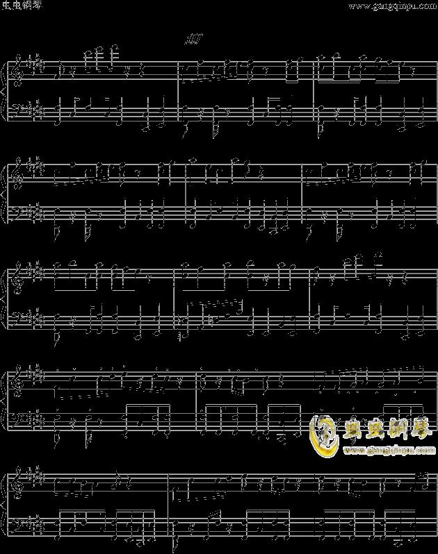 狮王之傲旅店钢琴谱 第4页