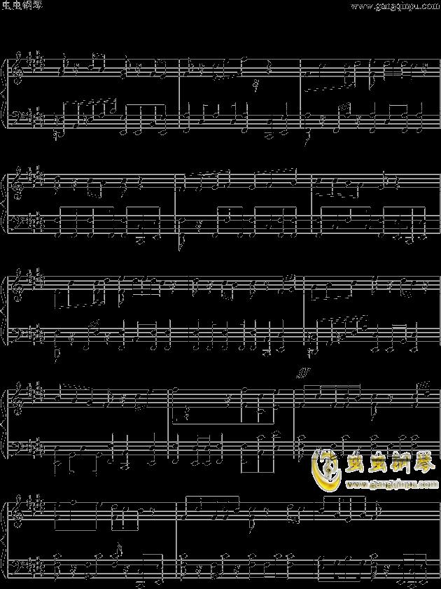 狮王之傲旅店钢琴谱 第5页