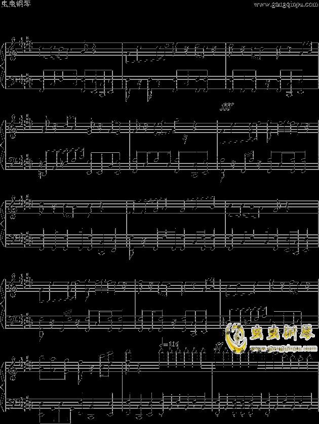 狮王之傲旅店钢琴谱 第7页