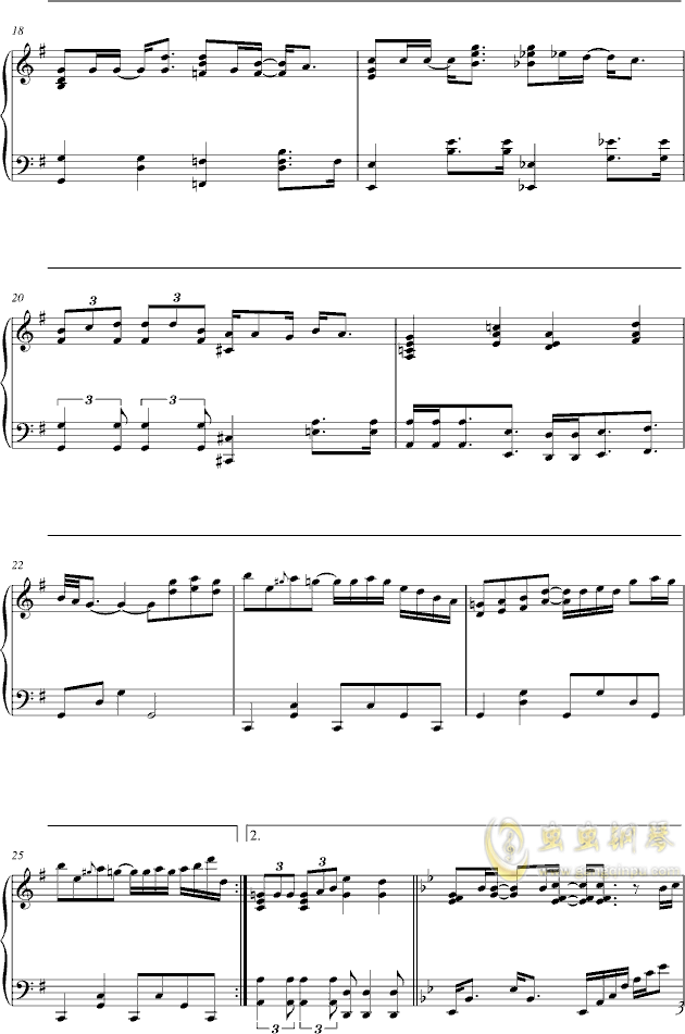 单车钢琴谱 第3页