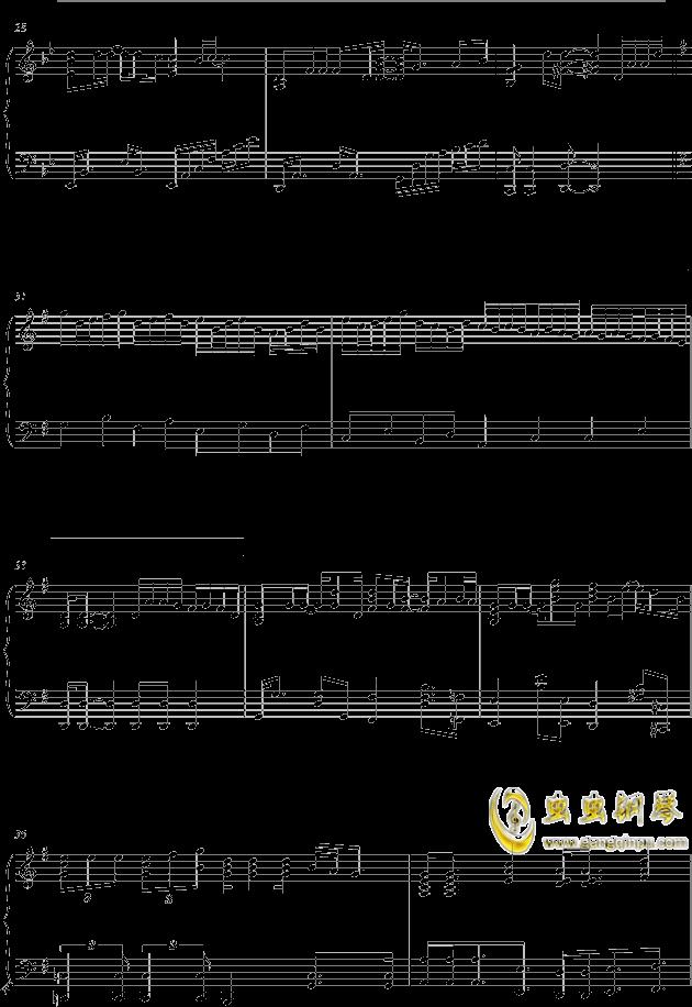 单车钢琴谱 第4页