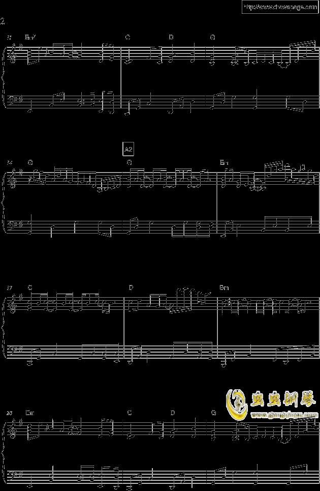 温柔钢琴谱 第2页