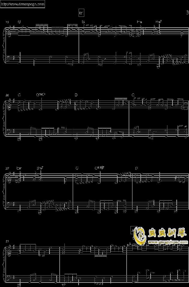 温柔钢琴谱 第3页