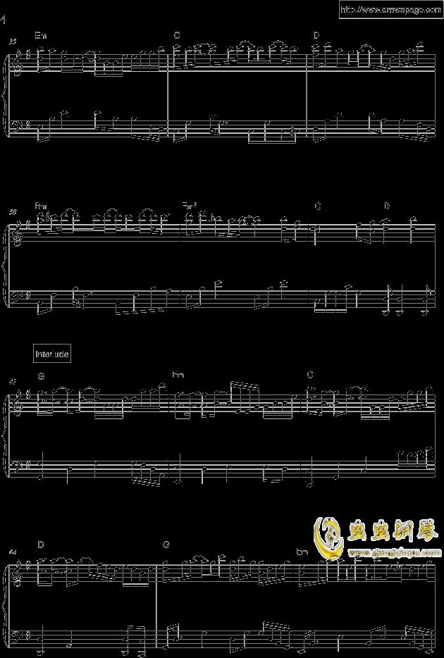 温柔钢琴谱 第4页