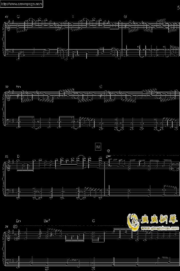 温柔钢琴谱 第5页