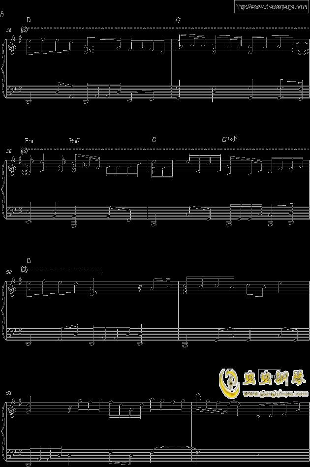 温柔钢琴谱 第6页
