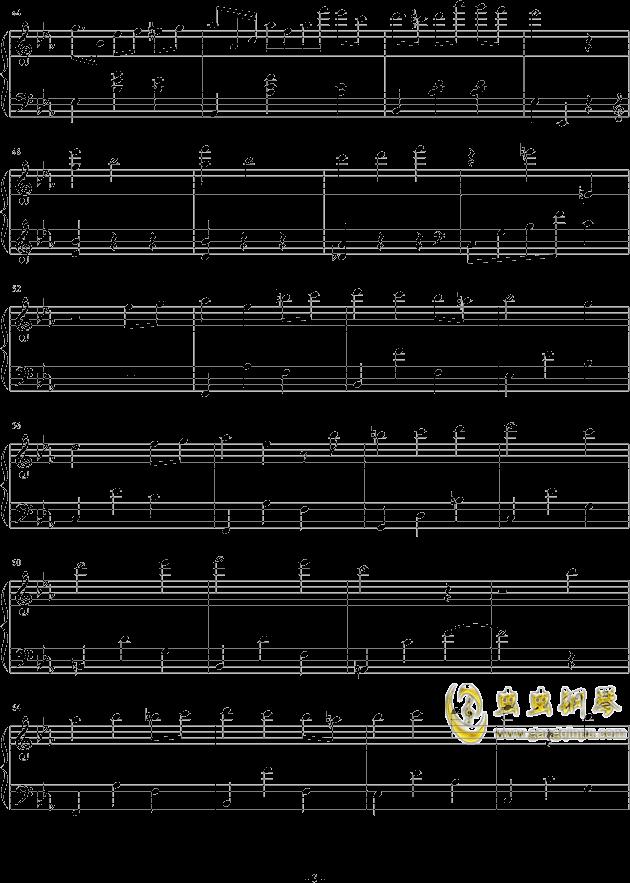 春天华尔兹钢琴谱 第3页