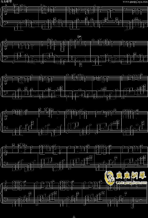 捉泥鳅钢琴谱 第2页