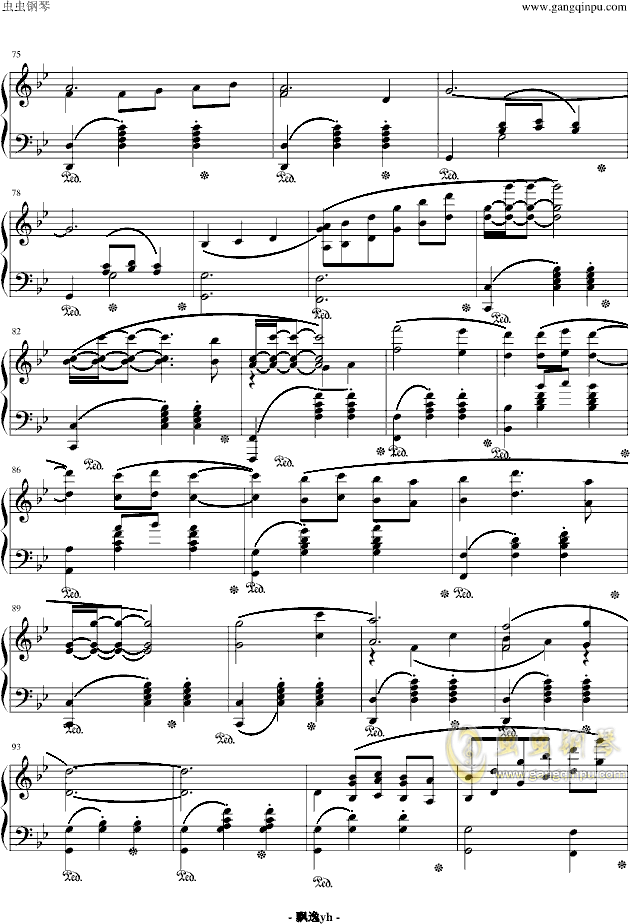 冒险岛背景音乐钢琴谱 第4页
