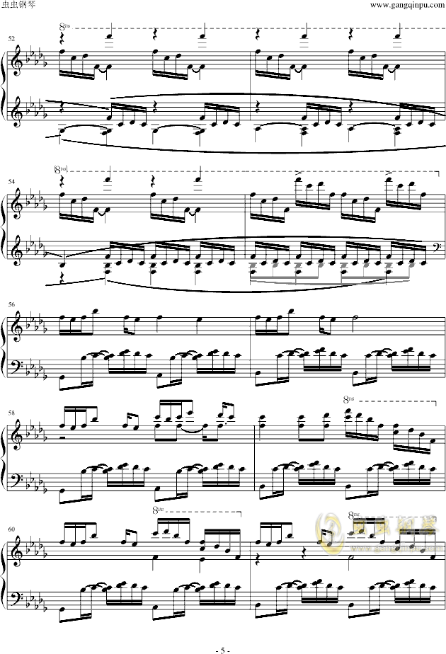 luv letter钢琴谱 第5页